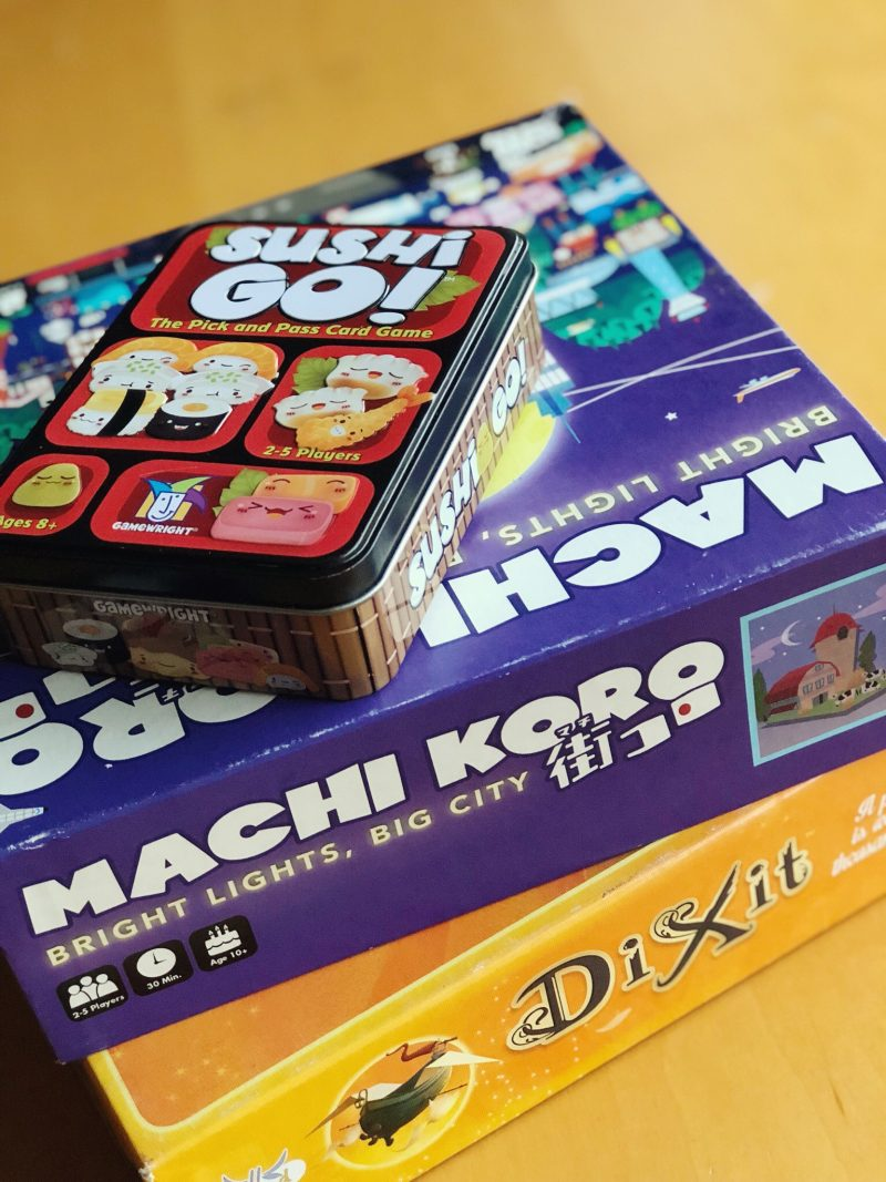 This collection of five unique card games for families will be an inspiration for your next family game night! #gamenight #familygame #familygamenight #game #machikoro #dixit #sushigo *Loving this entire list of suggestions and this best games for families website