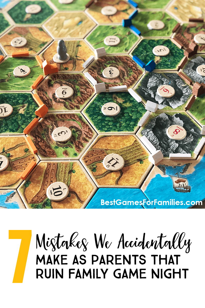 7 Mistakes We Make As Parents That Could RUIN Family Game Night - Find seven parent pitfalls, as well as seven recommendations for ROCKING family game night with your kids! #gamenight #familygamenight *Great post and loving all the family game reviews on this site!